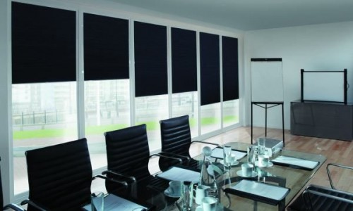 Black Office Curtains