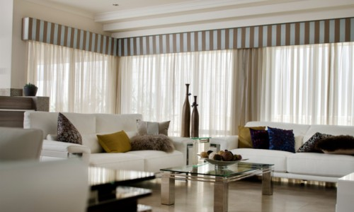 White Residential Curtains